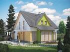 Проект жилого дома с гаражом и мансардой